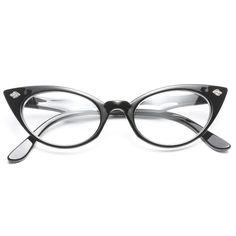 Vintage Retro Fashion Tip Pointed Large Womens Cat Eye Sunglasses - FREYRS - Beautifully designed, cheap sunglasses for men & women - 4 Fake Glasses, Cat Eye Glasses, Glasses Frames, Trending Sunglasses, Cheap Sunglasses, Retro Fashion Tips, Fashion Fashion, Runway Fashion, Fashion Trends