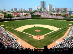 Wrigley Field is a baseball stadium located in Chicago, Illinois, United States, home of the Chicago Cubs. It was built in 1914 as Weeghman Park for the Chicago Federal League baseball team, the Chicago Whales. Baseball Park, Cubs Baseball, Baseball Field, Baseball Games, Chicago Cubs, Wrigley Field Chicago, Chicago Illinois, Chicago Trip, Hockey