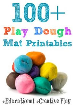 play dough mat printables also work great for non-play dough activities. Options are endless!