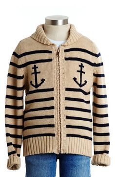 Peek 'Anchor' Zip Cardigan (Toddler Boys, Little Boys & Big Boys) available at #Nordstrom