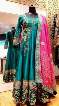 Colors & Crafts Boutique™ offers unique apparel and jewelry to women who value versatility, style and comfort. For inquiries: Call/Text/Whatsapp Indian Gowns, Indian Attire, Indian Ethnic Wear, Pakistani Dresses, Indian Outfits, Ethnic Fashion, Indian Fashion, Lehenga Designs, Anarkali Dress