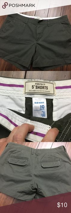 "I just added this listing on Poshmark: Old Navy Perfect 5"" Shorts Olive Size 10. #shopmycloset #poshmark #fashion #shopping #style #forsale #Old Navy #Pants"