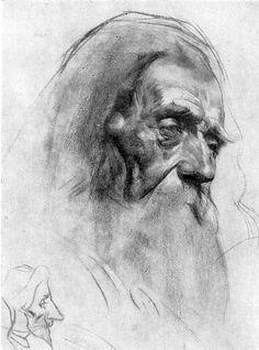 charcoal sketch by Dmitry Kardovsky (Д. Кардовский)