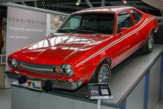 AMC Hornet from The Man With the Golden Gun. My great uncle designed the big stunt in the movie with this car. He owns one of the two used in the movie.