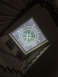This 6ft x 6ft glass floor has the compass rose design carved and embedded within 3 inch thick glass.