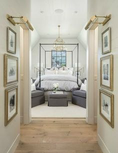 Pretty shot but really too much furniture for staging purposes. Thumbs up to black window,gold finishes,wood floors and symmetry. Corinne Madias MICHIGAN REALTY