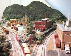 Lee Weldon's Western Maryland model railroad.