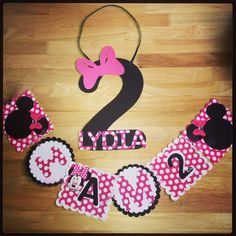 Birthday door sign Minnie Mouse banner Mickey Mouse by Cjsdesigns1