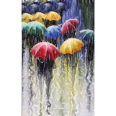 5.46AUD - 5D Diamond Embroidery Paint Cross Stitch Home Decor Craft Rain Day Umbrella Pop #ebay #Home & Garden