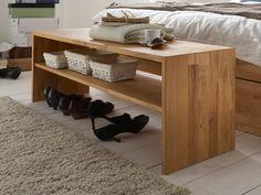 Diese Bettbank ergänzt Ihr Schlafzimmer um eine praktische Sitzfläche und verfügt über eine Ablagefläche für Schuhe. Jetzt bei More2Home bestellen! Entryway Bench, Shoe Rack, Bedroom Furniture, Projects To Try, Woodworking, Design, Home Decor, Wood Work, Products