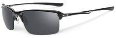 Oakley Wiretap Sunglasses with Polished Black Frame and Black Iridium Lens.
