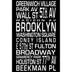 Black and white NYC poster $7.00!