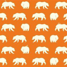 Bear Hike Orange - Bear Camp - Birch Organic Knit - Sold by the 1/2 ya – The Fabric Snob