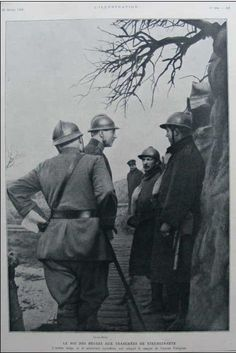 WW1, The King of Belgium in the trenches of Steenstraete.  https://www.etsy.com/shop/ElectricTurtles