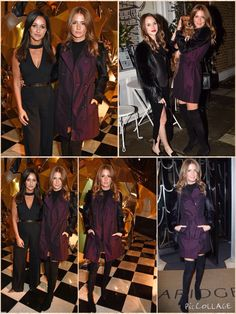 She's in fashion! Millie Mackintosh, 26, looked the part on Wednesday as she headed to Claridge's hotel for the Christmas tree unveiling in London Doing well to stand out, Millie wore a roll neck top which featured quarter length sleeves and backless detail with a suede and leather mini skirt