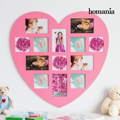 Centerpiece Golden - Autumn Collection by Homania Photo Heart, Made Of Wood, Decoration, Centerpieces, Pink, Gallery Wall, Frame, Gifts, Home Decor