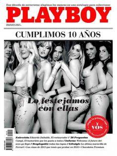 Playboy (Argentina) December 2015  with Natalia Castro, Fiuna Laino, Florencia Charlliere, Julietta Ortiz, Flor Pistone, Silviana Violetta, Garcia Cova