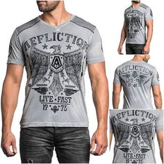 T shirt męski Affliction Tried & True  Buy online now ---> www.affliction.pl  #afflictionpoland #afflictionclothing #affliction #menswear #meski #grey #black #tshirt