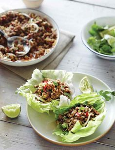Turkey & Shiitake Lettuce Cups Recipe