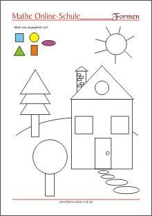 Learning the shapes - circle, rectangle, square, triangle - preschool Kids Math Worksheets, Preschool Learning Activities, Kindergarten Math, Toddler Preschool, Toddler Activities, Preschool Activities, Kids Learning, Kindergarten Portfolio, Math For Kids