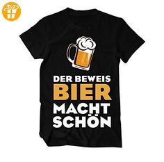 Der Beweis: Bier macht schön Fun T-Shirt Herren XXXX-Large Schwarz (*Partner-Link)