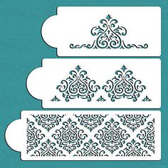 Elaine's Cake Stencil Set , Spray Paint Stencils, Cake Decorating Stencil, Cake Lace Side Plastic Stencil Set,ST-276 4408496 2016 – $3.19