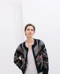 VESTE BRODÉE ÉDITION SPÉCIALE de Zara #SS14 fringeandfrange.com