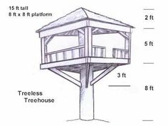 The tree-less tree house UBuild....step by step