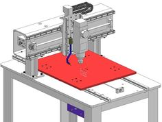 Design and build details of my custom CNC Router including CAD files, drawings, and build details.  This is a steel fixed gantry style router built specifically to tackle machining aluminum.