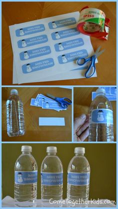 Come Together Kids: Melted Snowman Bottled Water Labels (with free printable)