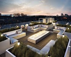 Rooftop Terrace at Yorkville Condominiums by Lifetime Developments