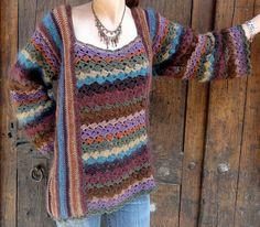Crochet sweater and cardigan