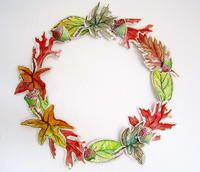 Book Page Fall Wreath