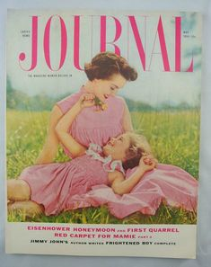 Ladies Home Journal, The Magazine Women Believe In! This issue is from May of The cover photo is by Tana Hoban. Loads of fantastic advertising and stories. Magazine Art, Magazine Covers, Mother Daughter Fashion, Family Circle, Classic Songs, Vintage Magazines, Michel, Mommy And Me, Vintage Advertisements
