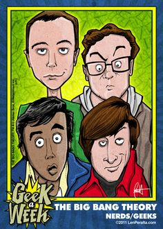 The Big Bang Theory Trading Card - from the Geek a Week series! :)