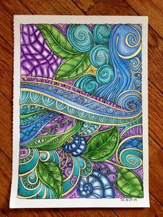 Creative Haven Entangled Coloring Book (Creative Haven Coloring Books): Dr. Angela Porter:  By Christine Roberts on Sep 14, 2015  Lovely lines and patterns - super fun book if you're into patterns.