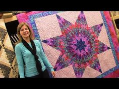 Part 2: Finishing up the Kaleidoscope Quilt and Table Runner Block | Let'sMake Quilting Tutorial - YouTube