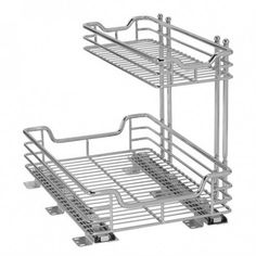 2-Tier Chrome Slide-Out Under-Sink Storage by Household Essentials