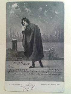 Cartolina illustratoria artisti musicali, viaggiata 1904- opera RIGOLETTO Atto 3. Cartolina d'epoca. Vintage di LaCasadiAnto su Etsy