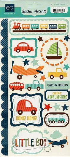 Scrapbooking for Less - Echo Park Cardstock Stickers - Little Boy, $0.50 (http://www.scrapbooking-for-less.com/echo-park-cardstock-stickers-little-boy/)