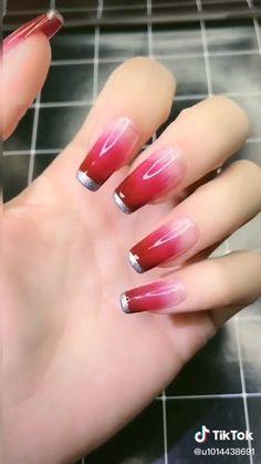 Nail Art Designs Videos, Nail Art Videos, Simple Nail Art Designs, Simple Nail Arts, Pretty Nail Designs, Simple Nails, Chic Nails, Stylish Nails, Trendy Nails