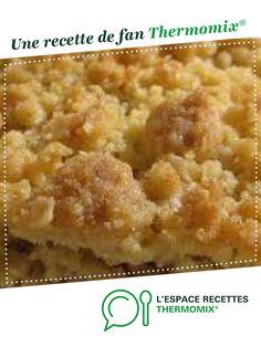 pâte à crumble sucrée par manie14190. Une recette de fan à retrouver dans la catégorie Pâtisseries sucrées sur www.espace-recettes.fr, de Thermomix<sup>®</sup>.