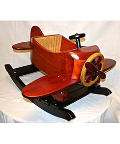 Premium Wood Airplane Rocker | Overstock™ Shopping - Great Deals on Living Room Chairs Glow Table, Wood Projects, Woodworking Projects, Grandma Crafts, Airplane Crafts, Making Wooden Toys, Got Wood, Ride On Toys, Kids Wood