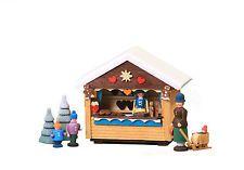Miniatur-Marktbude Weihnachtsmarkt Bäckerei Pfefferkuchen - Seiffen Erzgebirge