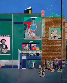 """magictransistor: """" Romare Bearden. The Block. 1971. Expansive in scale, narrative detail, and conception, The Block celebrates a Harlem neighborhood in a dynamic, affirmative spirit. The collage is..."""