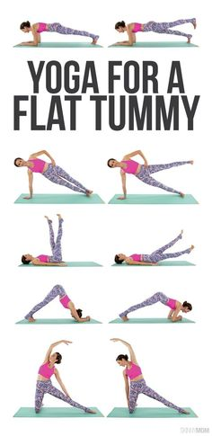 Try these yoga moves to help tighten your tummy- no crunches required! Promise!