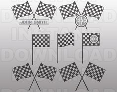 Race Flag Racing car check patternrace Svg Cuttable