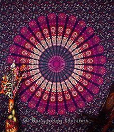 Indien Motif floral indien Bedsheet couvre Tenture, drap de plage, en pique-nique de qualité Hippie murale Motif bohème Motif Mandala, tapisseries, dortoir Pyshedlic Tapisserie en coton décoration, couvre-lit, 86 x 94 Par Bhagyoday Inch BhagyodayFashions http://www.amazon.fr/dp/B00WTXQWW6/ref=cm_sw_r_pi_dp_W-juwb1MHM2MJ