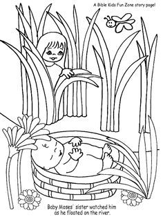 coloring page of baby moses basket | on the picture and then print ...