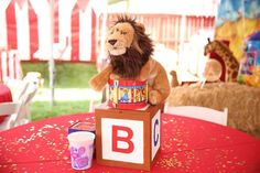 Circus Carnival themed 1st birthday party via Kara's Party Ideas | KarasPartyIdeas.com (16)